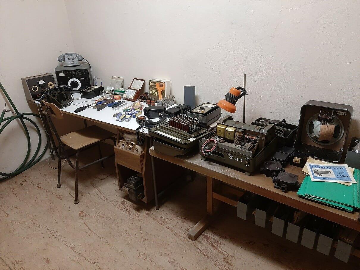 Expozícia technologického vybevenia múzeu Alekšince