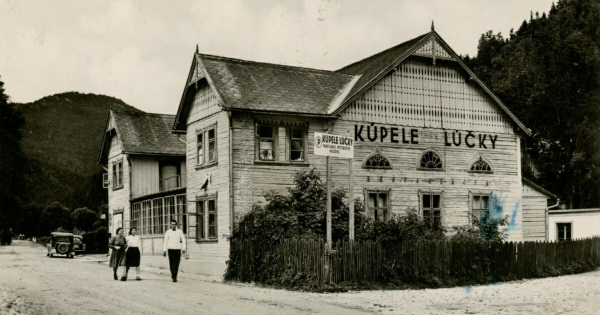 Historická fotografia- označenie Kúpeľov Lúčky