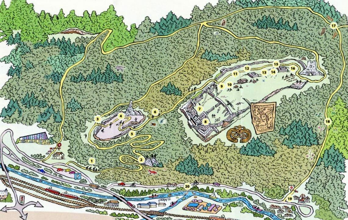 Mapa náučného chodníka Pustý hrad