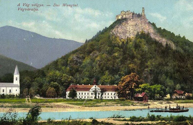 Považský hrad na historickej fotografii