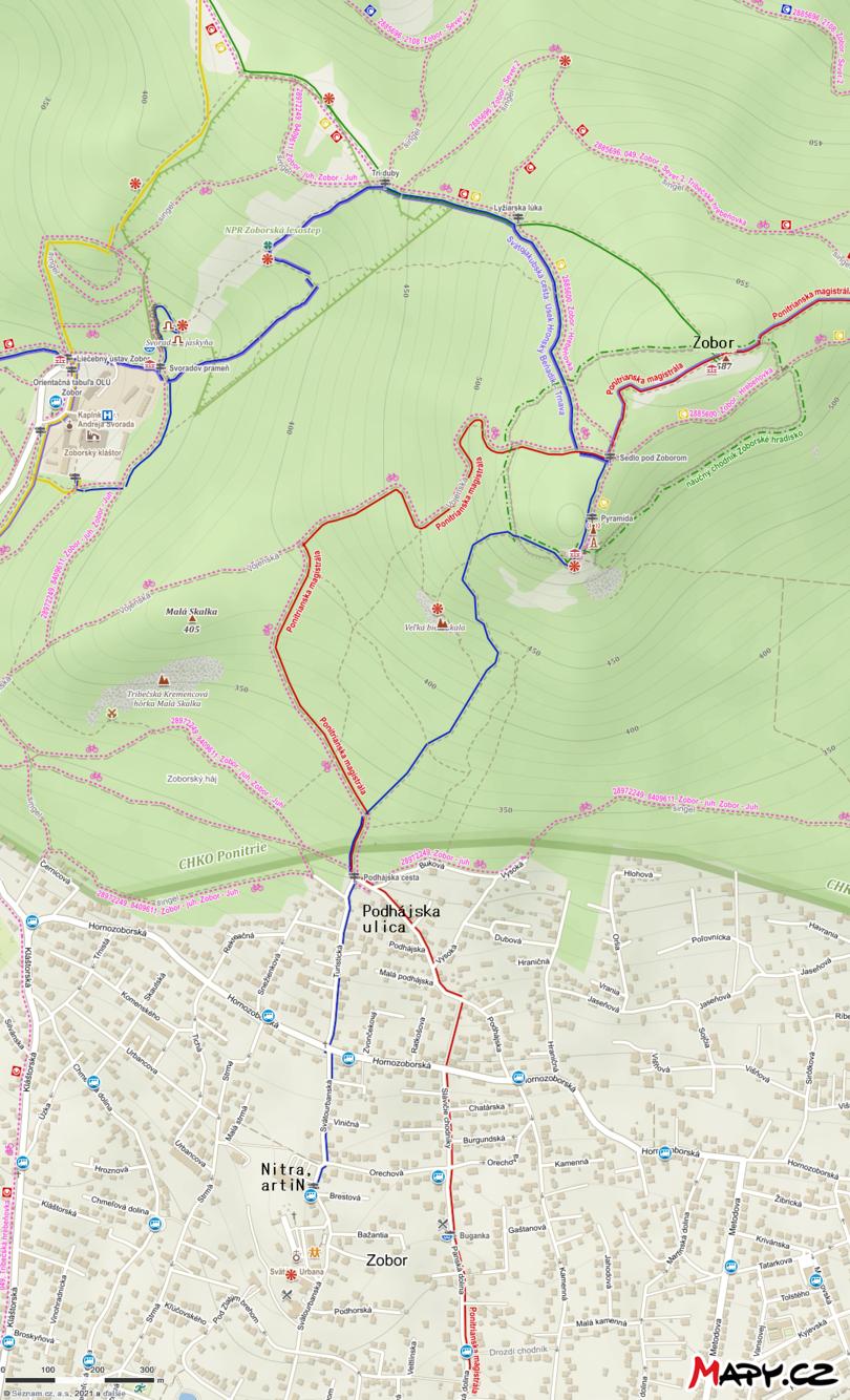 Turistická trasa: Nitra – Zobor