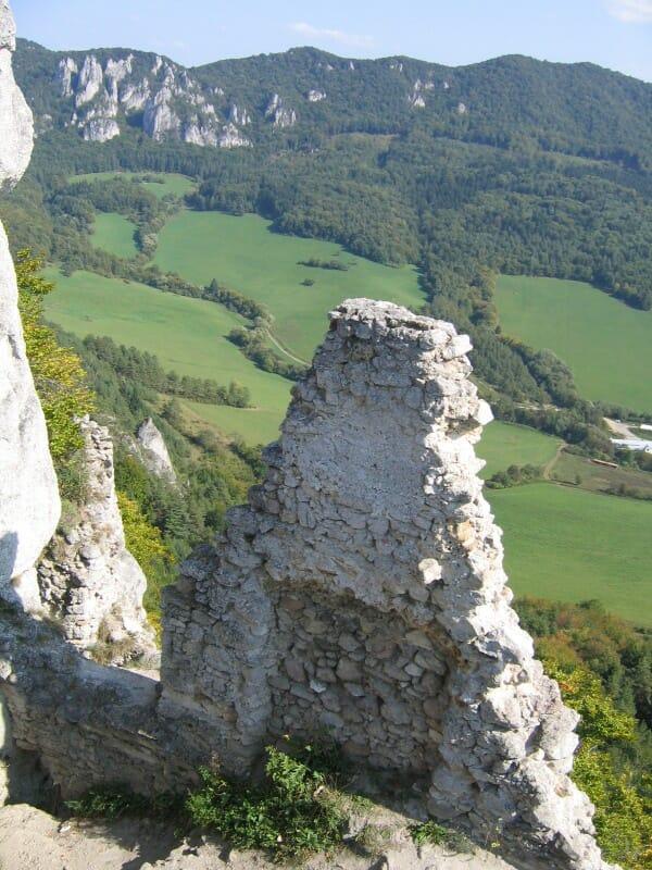 Výhľad z hradu Súľov