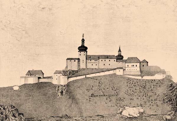 Hrad Čaraď v 18. storočí