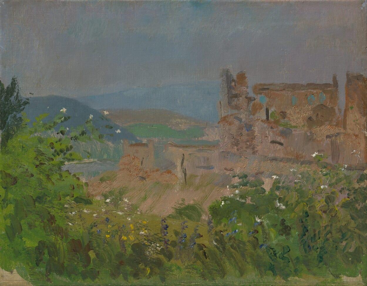 Olejomaľba: Beckovský hrad, Ladislav Mednyánszky, 1880–1885, SNG