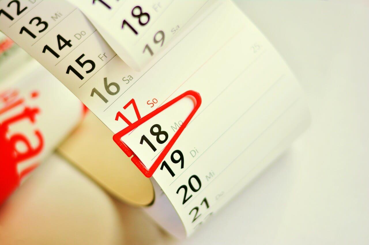 Ilustračný obrázok - kalendár